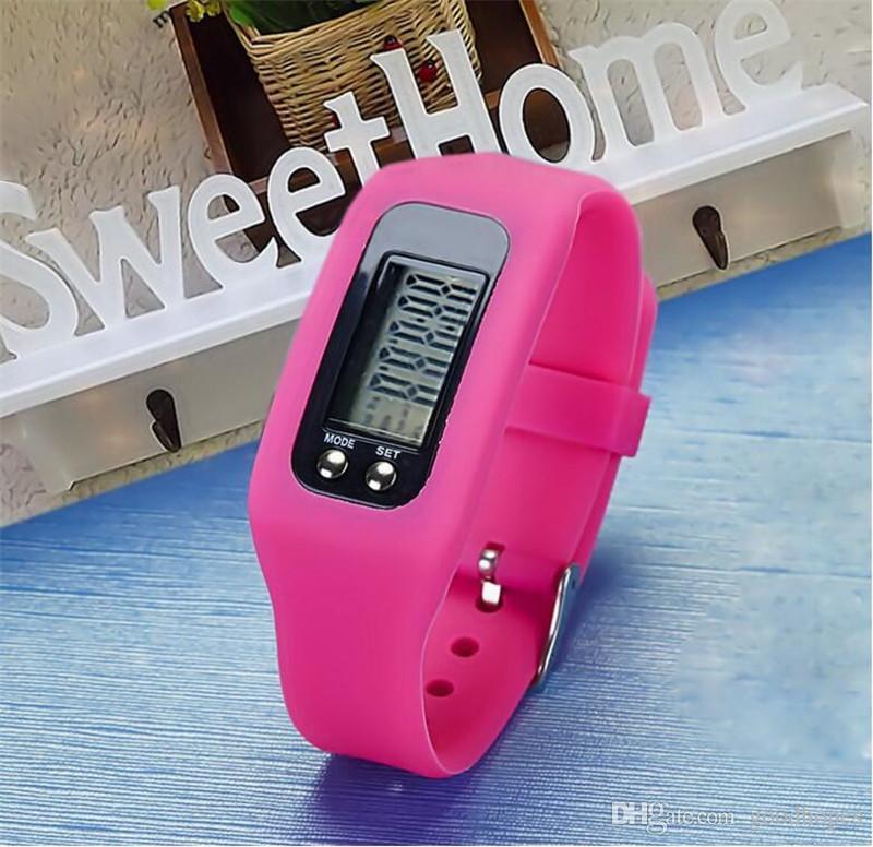 Fashion Design Multifunction Digital Pedometer Silicone Fitness Run Step Walking Distance Calorie Counter Smart Watch Bracelet Pedometer