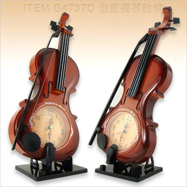 2018 Wholesale Fashion Violin Art Wall Clock Mute Gift New Year From Hogane 5842