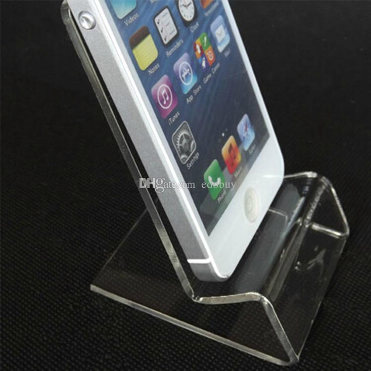 Acrylic Cell phone mobile phone Display Stands Holder stand for 6inch iphone samsung HTC xiaomi huawei sony good sell