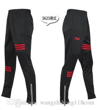2017 pantalones de entrenamiento de fútbol y pantalones secos de velocidad de los hombres, un par de pantalones largos con una cremallera en la parte posterior de un gimnasio pantalones de entrenamiento de fútbol hombre