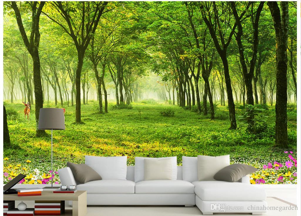 Scenic wall murals makeup our wallpaper murals are scenic for Deer mural wallpaper