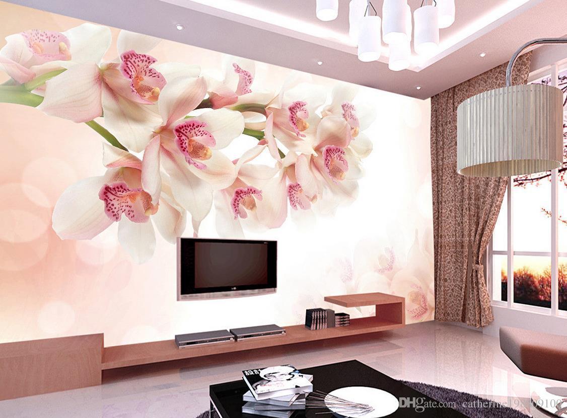 sfondo del fiore decorazione della parete della pittura murale 3d 3D Wallpaper carta da parati la tv sullo sfondo