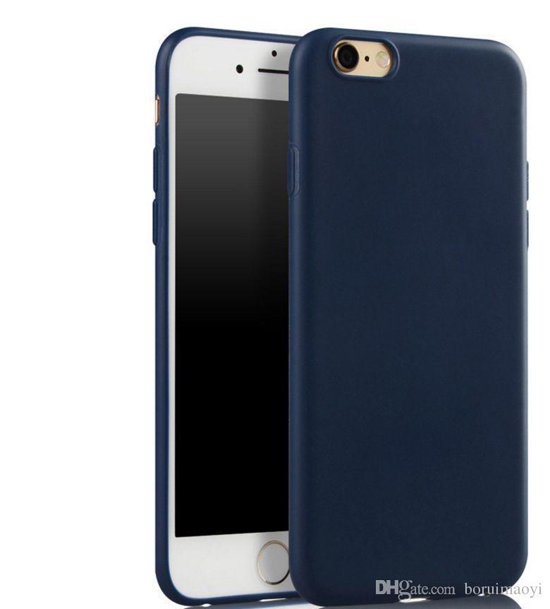 Freier Verschiffen Luxuxleder-weicher Gelgummi-Mattabdeckungs-Telefon-Kasten für iPhone XR XS maximales 5 6S 7 plus 8 plus Fälle