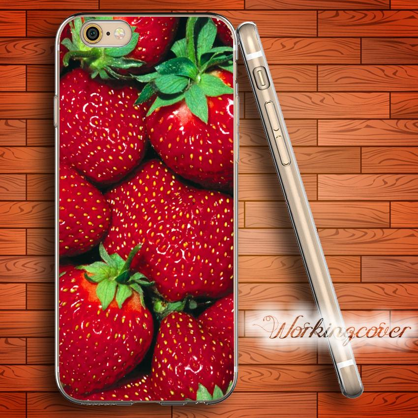 coque fraise en siliconne iphone 5 c