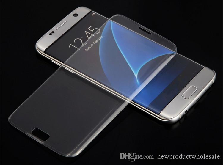 New For Samsung Galaxy S8 Plus S7 S6 Edge Screen Protector Tempered Glass Film Full Cover 3D Curved Anti-Scratch membrane with box Best