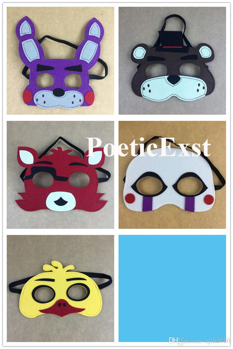 Dress up five nights at freedys - Five Nights At Freddy S Masks Cartoon Character Felt Mask Birthday Party Favors Pretend Display Dress Up Drop Shipping Masks For A Masked Ball Masks For A