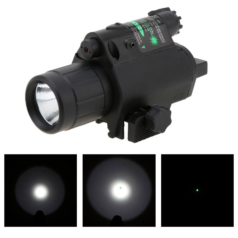 ce3606f8db7ce6 Hot Sale 2 In 1 Airsoft Hunting M6 CREE LED Torch Tactical 200LM Laser  Flashlight Combo Light + Green Laser Sight W  Tail Switch Inforce Tactical  Light ...