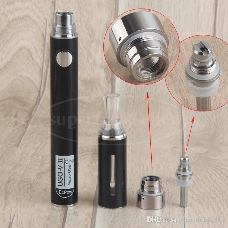Vape Kalem Evod MT3 Kiti Hediye Kutusu Paketi Ugo V II BCC Cartomizer Mikro USB Passthrough ile Tek Ego Buharlaştırıcı 510 Konu Pil