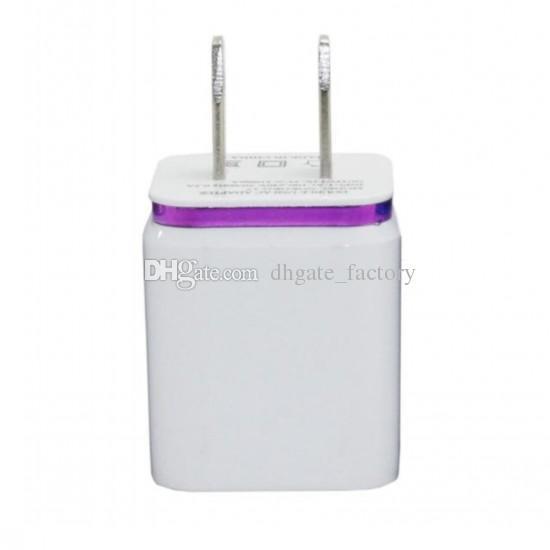 Metall Dual USB US Stecker 2.1A AC Power Adapter Ladegerät Port 2 Port für Samsung Galaxy Note LG Tablet ipad