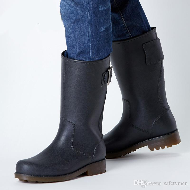 0fc2b053e1f68 Compre Envío Gratis 2016 Nueva Moda Para Hombre Botas De Lluvia  Impermeables Rainboots Matt Shoes Rainday Water Shoes Zapatos Adultos Skid  Tamaño 39 45 ...