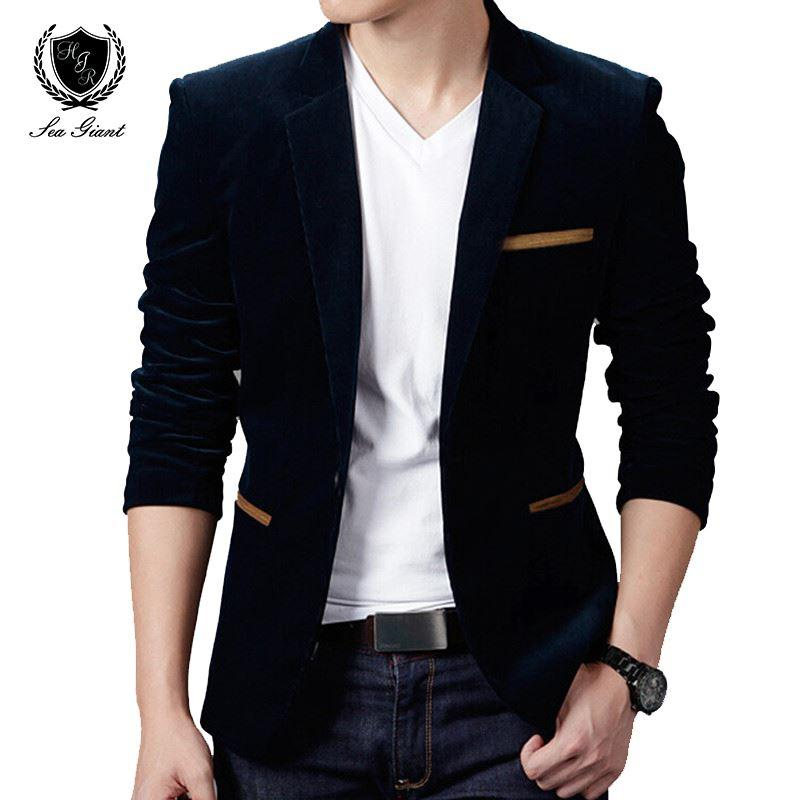 70a0619a5fbc4 2019 New Mens Fashion Brand Blazer British S Style Casual Slim Fit Suit  Jacket Male Blazers Men Coat Terno Masculino Plus Size 4XL From Billstone