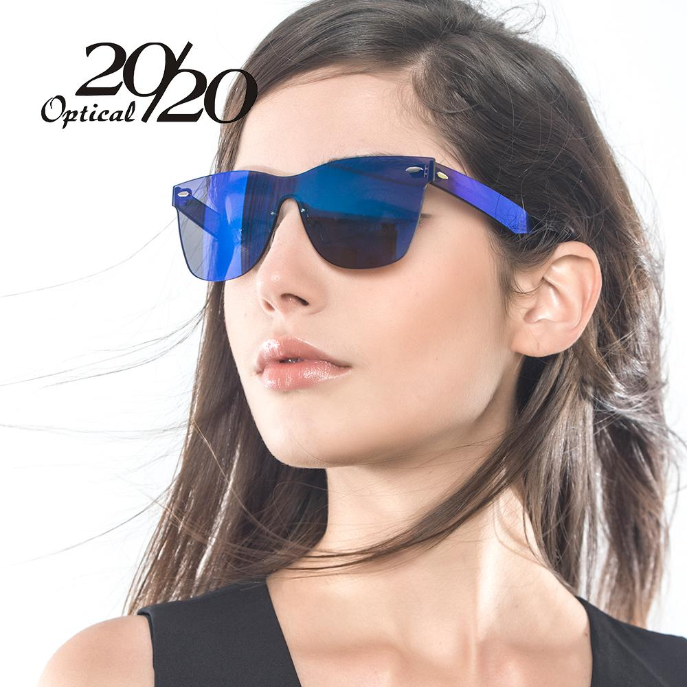 b332f84948d Brand unique style sunglasses women sexy flat lens rimless jpg 1000x1000  Blue girl sunglasses