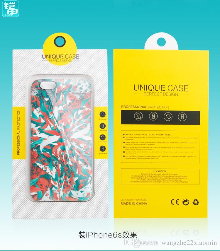 vendita all'ingrosso Universale Pesonalize Design a prova di polvere perfetto Design cassa del telefono iphone 7 7plus con finestra in PVC Blister