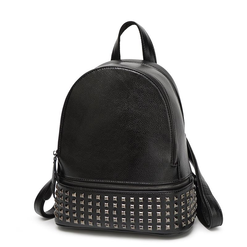 Wholesale Rivets Backpack Women Small Backpacks For Teenage Girls Bagpack Women S  Casual Daypacks Female Backpack Sac A Dos Femme Wheeled Backpacks Leather  ... eb48121b8e1b3