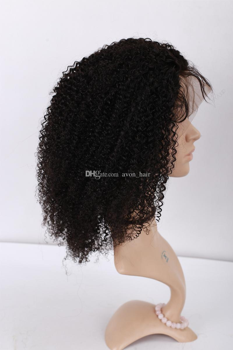 Brazilian Afro Kinky Curly Full Lace Human Hair Wigs For Black Women 9A Kinky Curly Lace Front Human Hair Wigs Full Lace Wigs