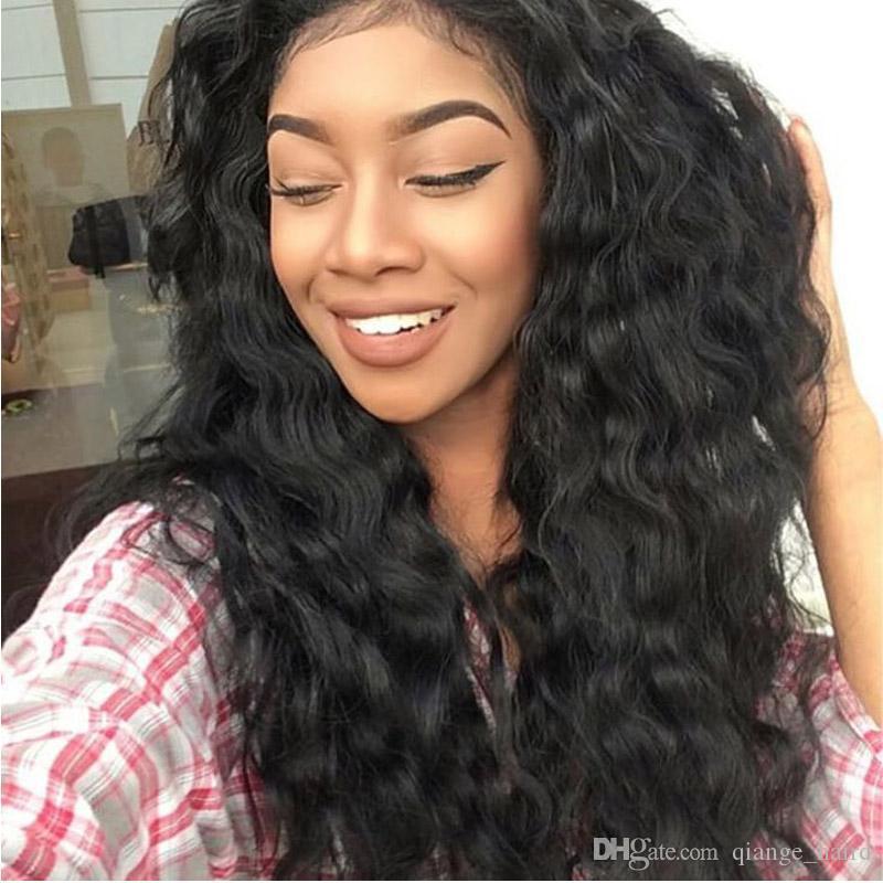 Brasilianische volle Spitze-Menschenhaar-Perücken für schwarze Frauen glueless Spitzefront-Menschenhaar-Perücken-Jungfrau-volle Spitze-Perücke mit dem Baby-Haar