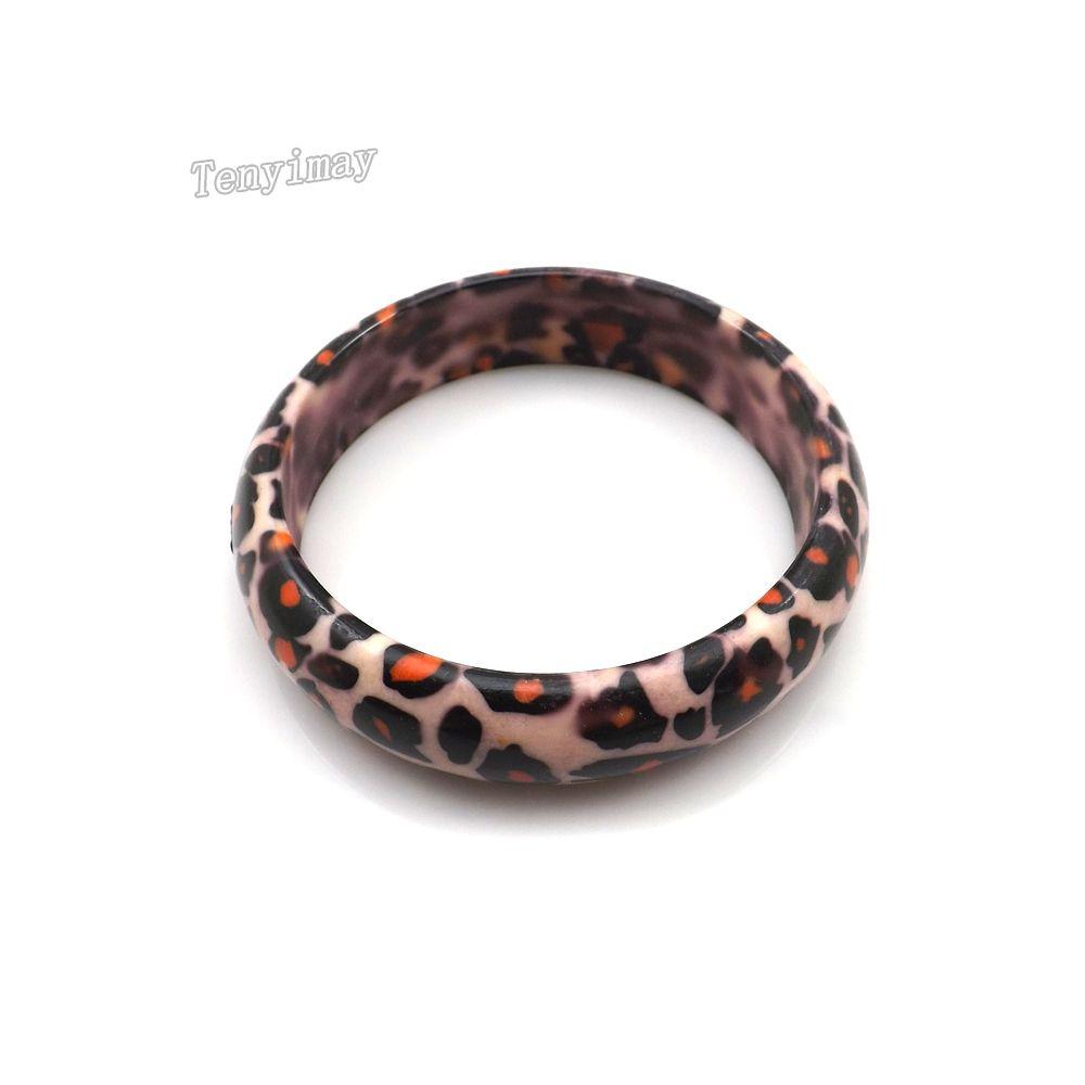 La promozione adatta dei braccialetti del leopardo acrilico all'ingrosso / libera il trasporto