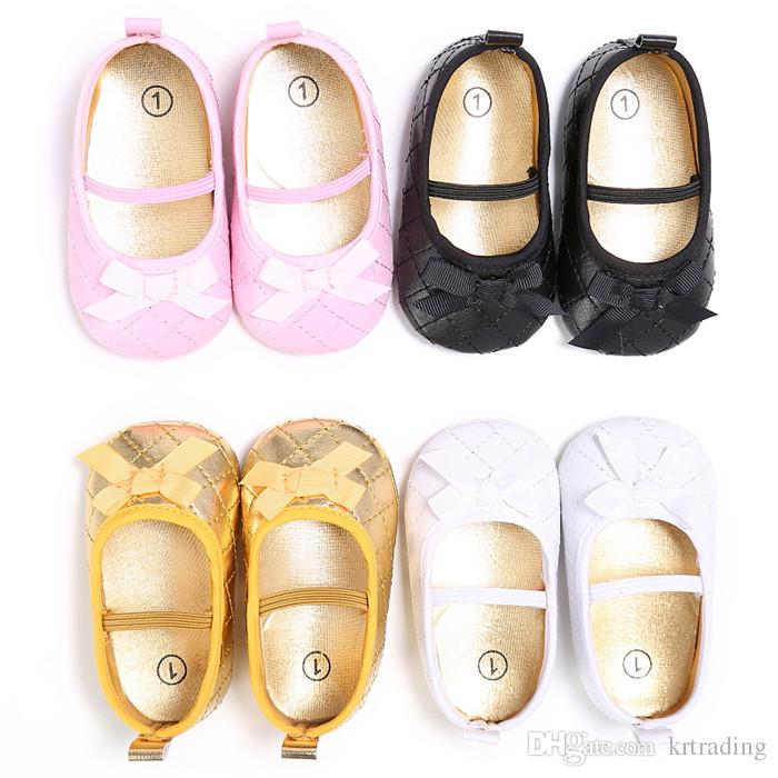 Baby Girls Quilted PU Princess Moccasins Prewalkers Infants soft sole shoes Shiny first walking shoes 3sizes for girls 0-3T