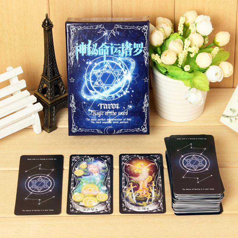 78 Cards Fate Tarot Card Board Game Divination Card For