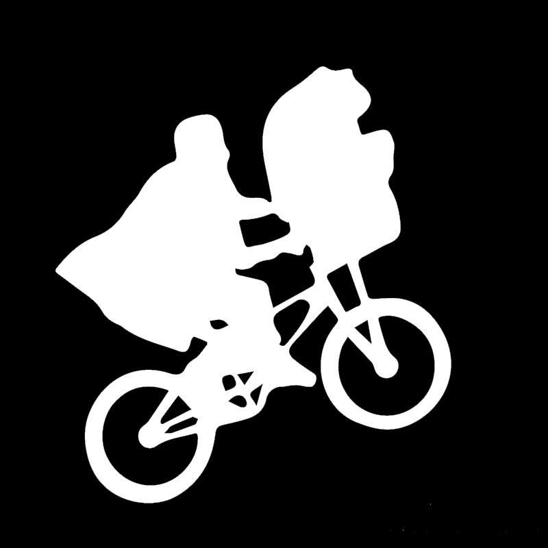 Best Children'S Sci Fi Movie Clips E.T. Bike Car Sticker For Window Bumper  Motorcycle Canoe Car Cover Reflective Vinyl Decal Car Styling Jdm Under  $1.31 ...