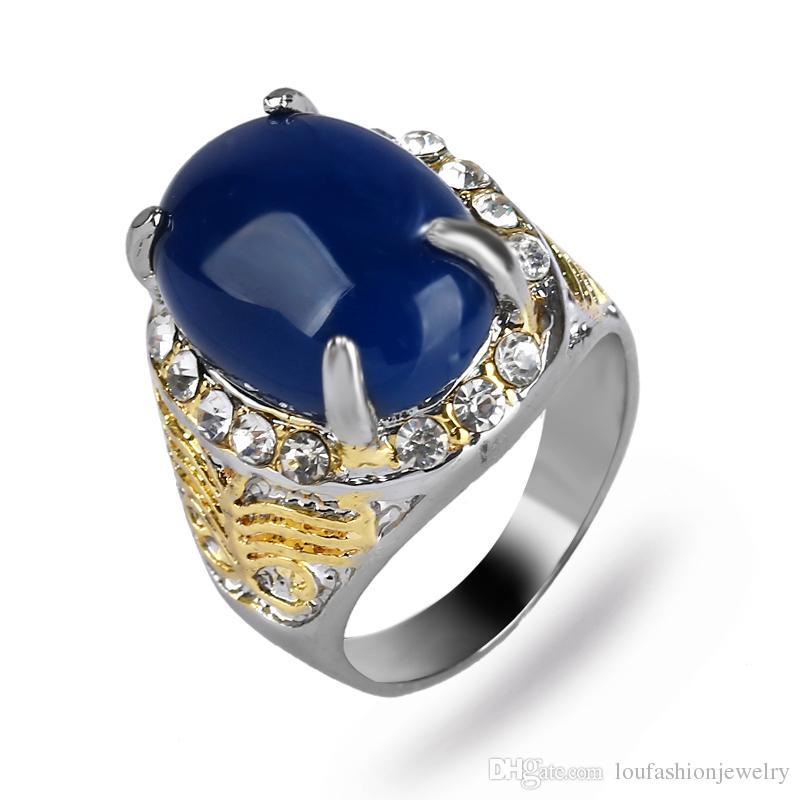 61fdf259f08e5 Acheter Bague En Agate Pour Homme Pour Homme De  21.71 Du Loufashionjewelry    DHgate.Com