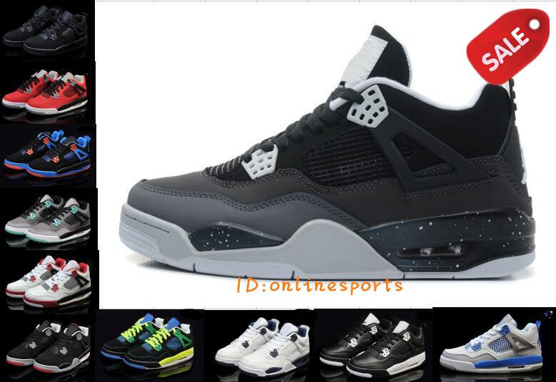 2017 Air Retro 4 Basketball Shoes Men Retro 4s Pure Money Royalty White  Cement Premium Black Bred Fire Red Sports Sneakers Big Size 8 13 Shoes  Canada ... d35455029