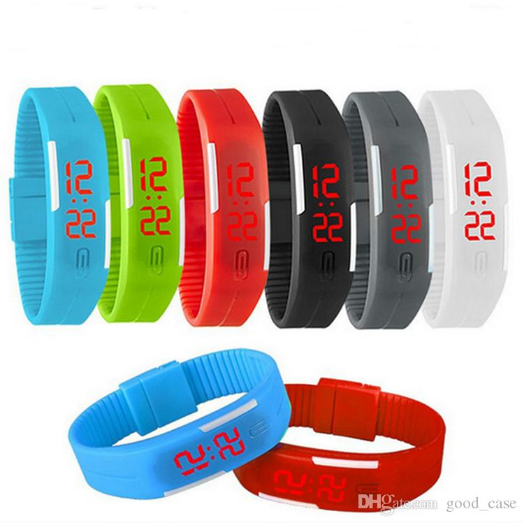 2017 Led Digital Touch Screen Sports Watches Jelly Candy Color Silicone  Wristband Watch Rectangle Waterproof Couple Wrist Watch Bracelets Buy  Watches Online