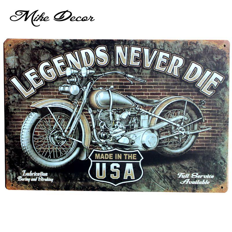 wholesale mike86 new legends never die motor painting wall art