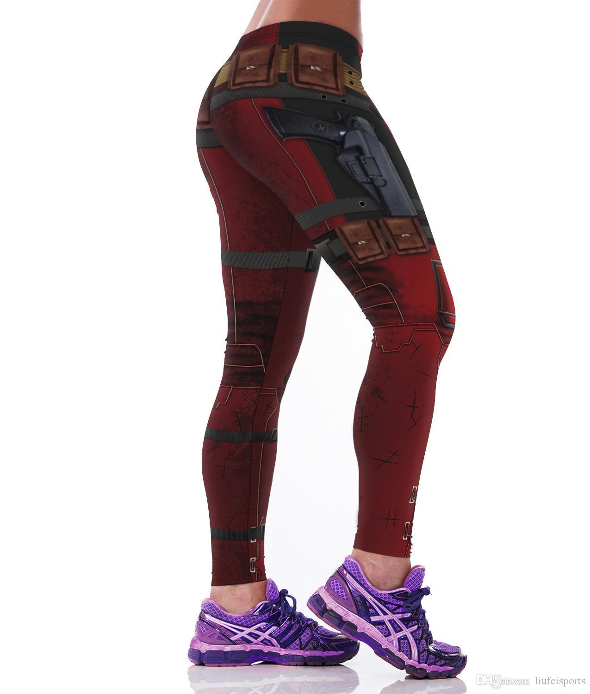 Secado rápido pantalones deportivos al aire libre impermeables Elasticidad Uniformes creativos Leggings de la personalidad Pantalones largos Ropa deportiva al aire libre