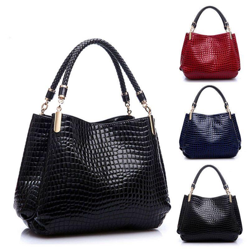Famous Designer Bags Women Leather Handbags 2018 Luxury Ladies Hand Bags  Purse Fashion Shoulder Bags Bolsa Sac Crocodile Leather Backpack Clutch Bags  From ... 52bd28e1e38d3