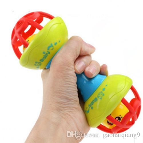Lovely Funny Baby Rattles Plastic Novelty Hand Shake Bell Ring Early Learning Educational Toys Rattles toys Baby