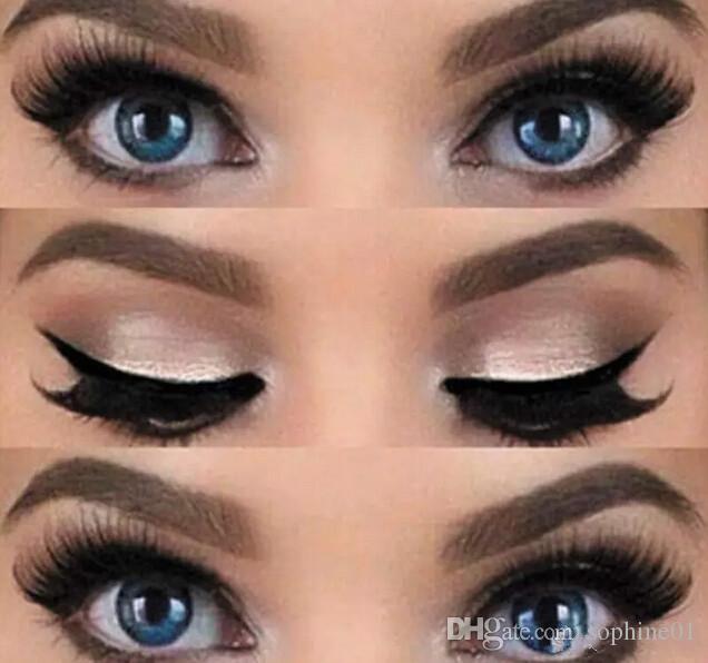 Nueva 2 estilos Belleza Delineador de ojos Smokey Gato modelos de la plantilla Plantilla de la talladora del Eyeliner de herramientas
