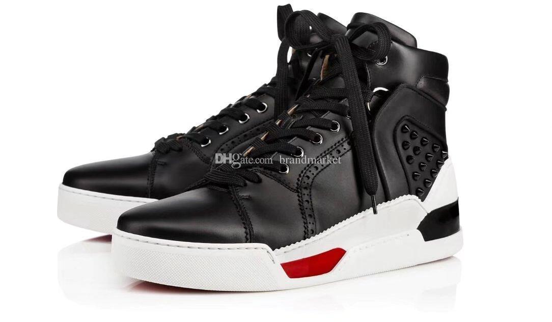Hohe Qualität Arena Schuhe High Top Leder Mischfarben Mode Rot Schwarz Weiß Designer-Schuhe Wholesale Mann beiläufige Turnschuh