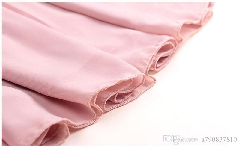 jupes des femmes des 2017 l'Europe jupe en mousseline de soie double couche de haut buste plissée jupe taille gros 20 sortes de couleurs peuvent choisir NYC139