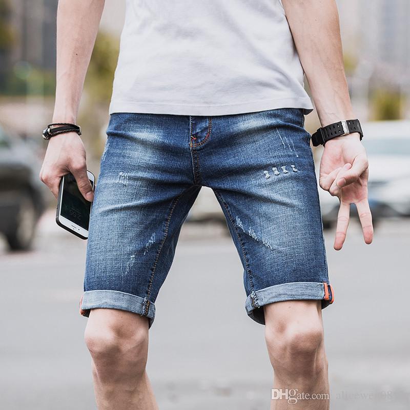 2019 2017 Lastest Shorts Men Fashion Casual Mens Jeans Shorts Cotton