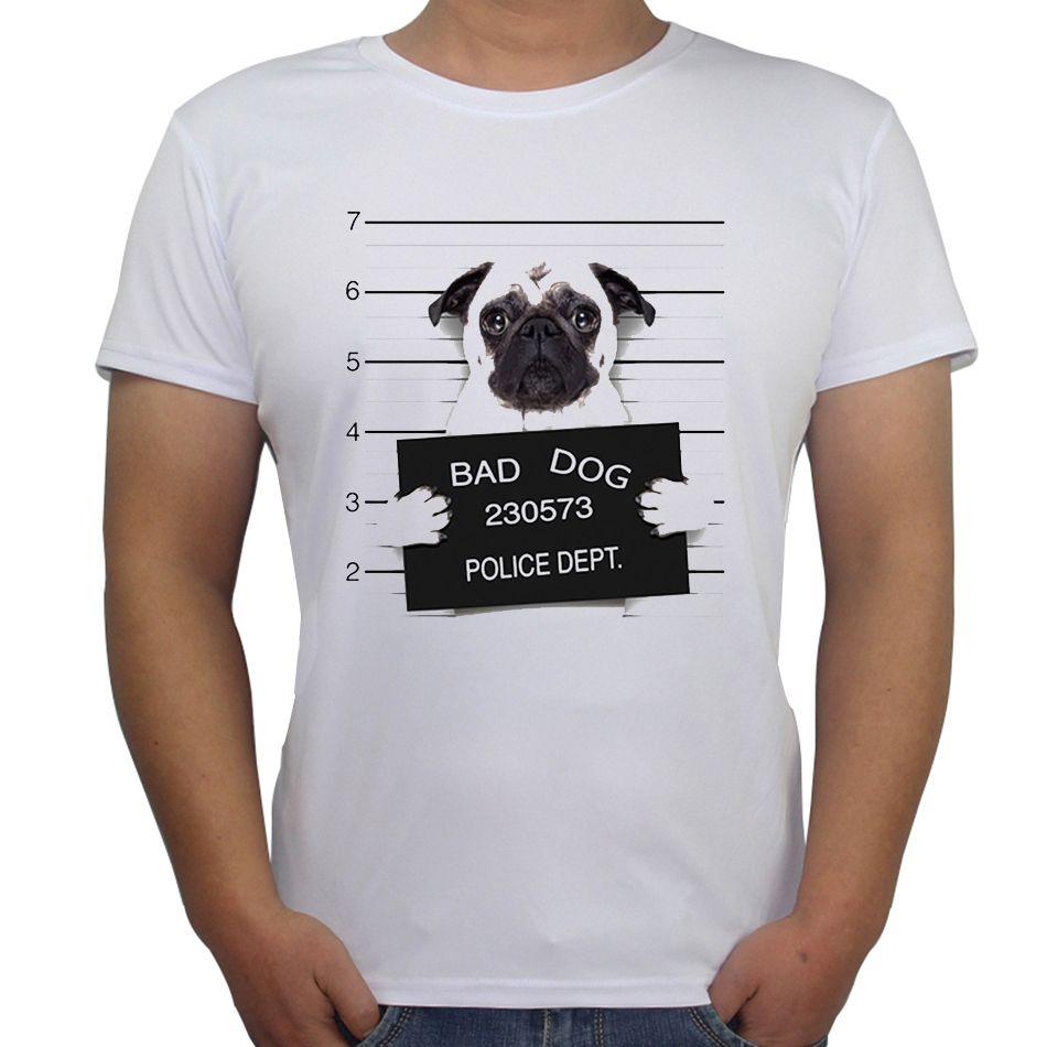 Design t shirt sell online - 2017 Palace T Shirt Creative Dog Police Dept Design Men T Shirt Pug Printed T Shirt Short Sleeve Casual French Bulldog Tops Tees
