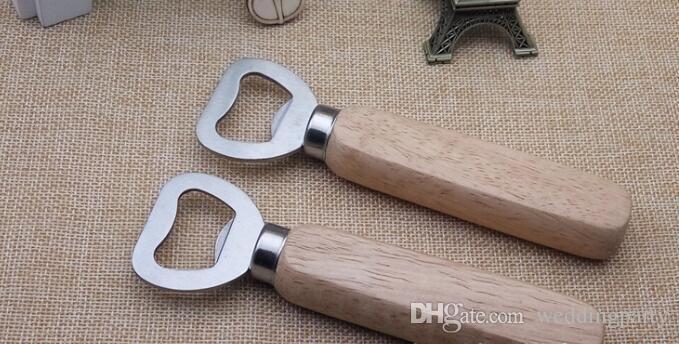 Hot sale Stainless steel wooden handle Red wine beer bottle opener never deformation new arrival