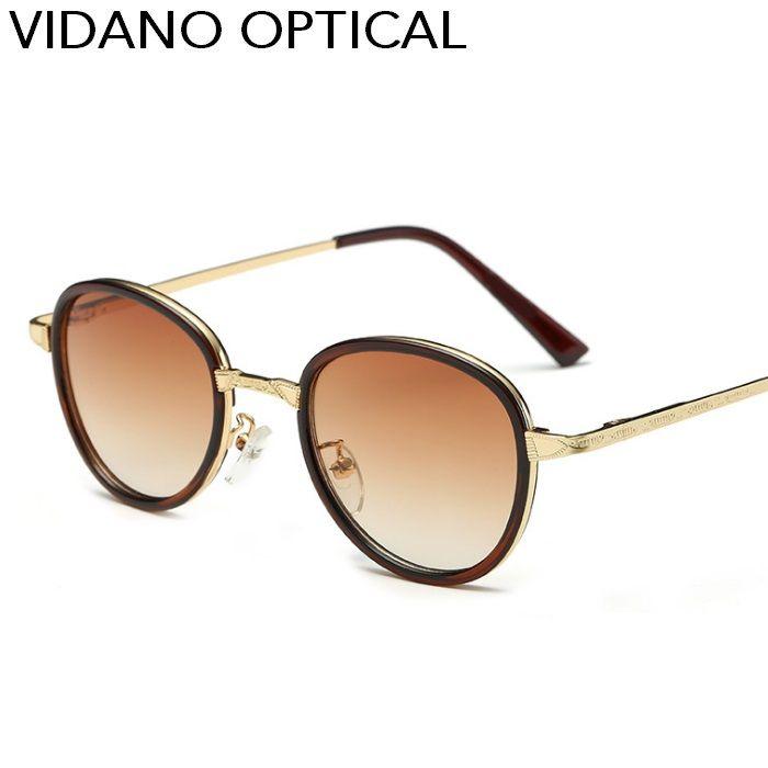 b82b8af6d4f Vidano Optical Vintage Round Sunglasses For Women   Men Glasses ...
