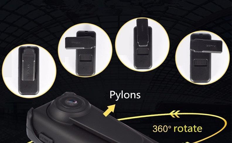 Full HD 1080P Nachtsicht Mini DV 140 ° Weitwinkel Sicherheitspolizei Kamera Videorecorder Körper Kamera Schleife Aufnahme schwarz
