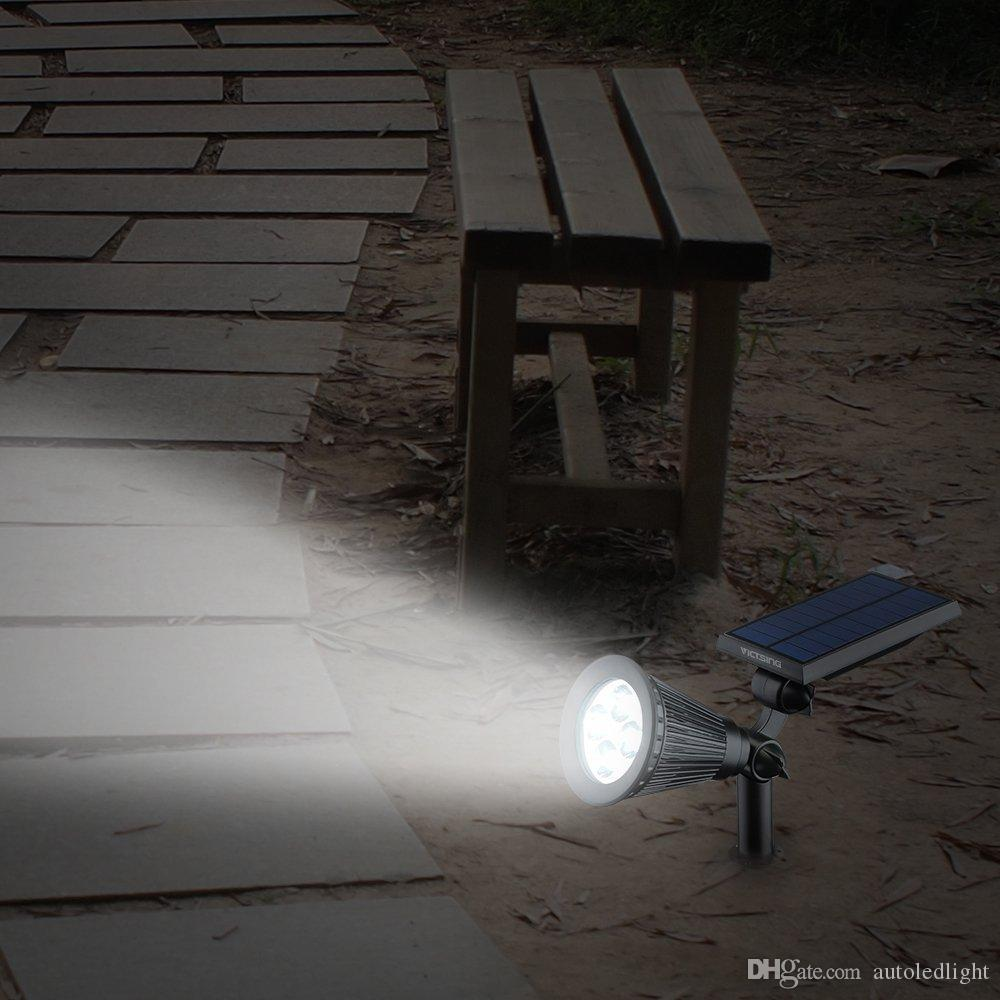 Solar Power 4 Bright LED White/Warm White RGB automatic switch Outdoor Garden Path Park Lawn Lamp Landscape Spot Lights