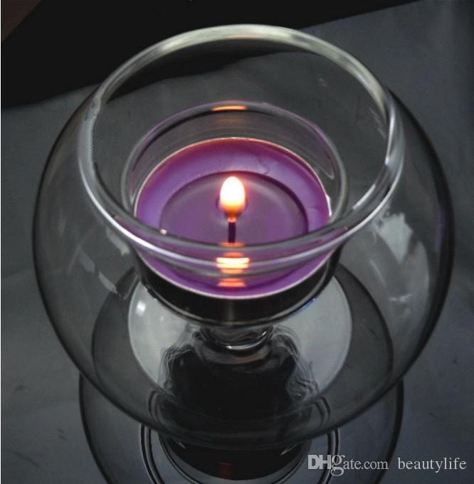 Glass Ball Thickening Windproof Candlestick Inside The Candle Can Be Done Micro Landscape Fish Tank Wedding Decoration Home Acce Cylinder