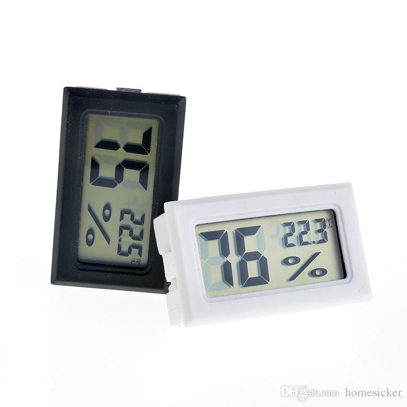2020 NOUVEAU Noir / Blanc FY-11 Mini Numérique LCD Environnement Thermomètre Hygromètre Humidité Température Compteur dans la chambre Réfrigérateur Icebox
