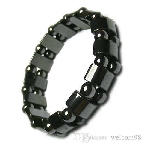 10 unids / lote negro magnético pulseras sanas para el arte de DIY joyería de moda Gfit 8 pulgadas M41 envío gratis