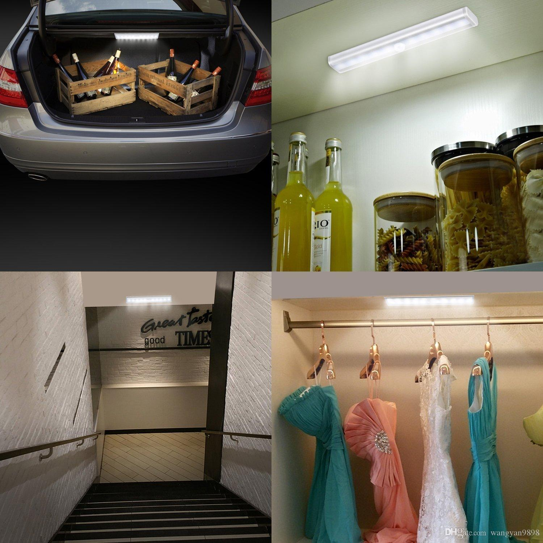 closet lighting wireless. LED Closet Light, LOFTER 10 Motion Sensor Cabinet Light Wireless PIR Activated Cupboard Lighting