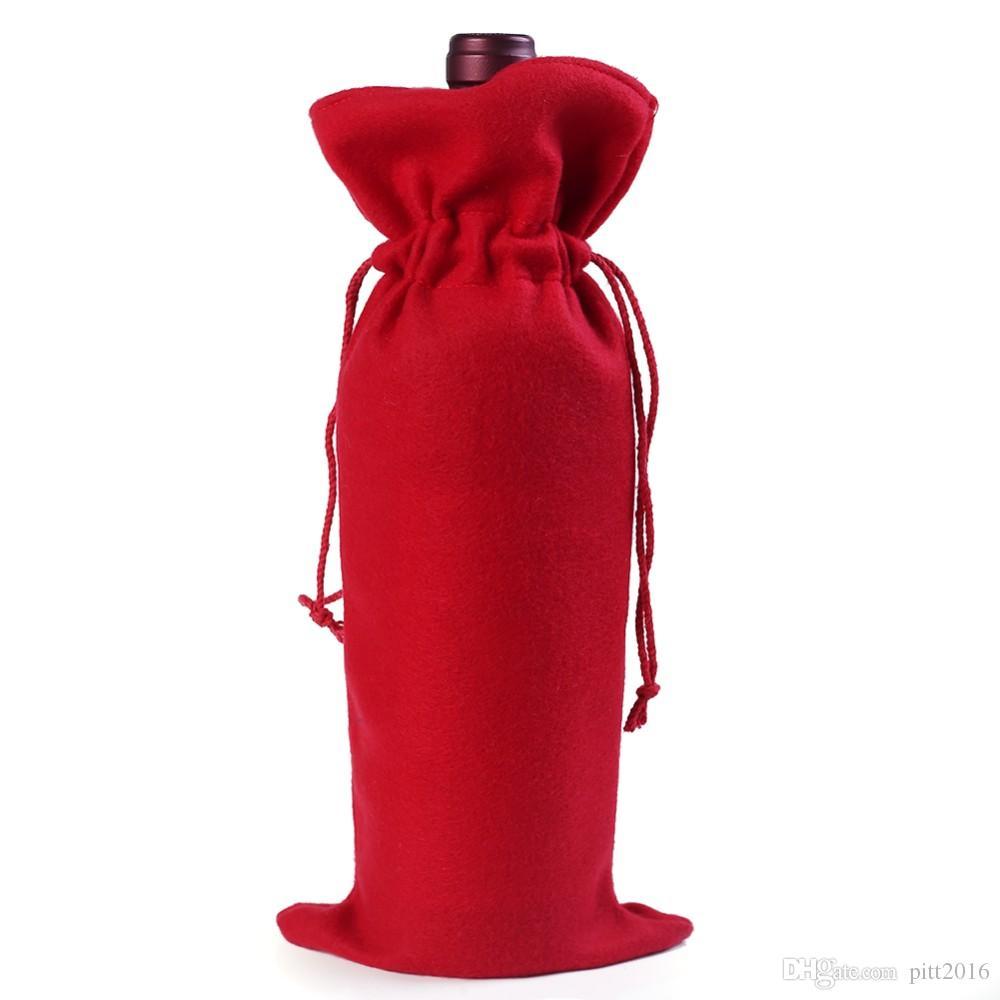wholesale arrival X-mas wine bottle packing bag, Unique design Christmas supplies, Santa gift box wine bottle cover