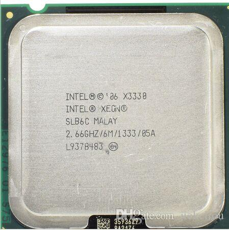 X3330 Original Intel Xeon X3330 Quad Core 2.66GHz LGA 775 95W 6M Cache Server CPU scrattered piece SLB6C EO