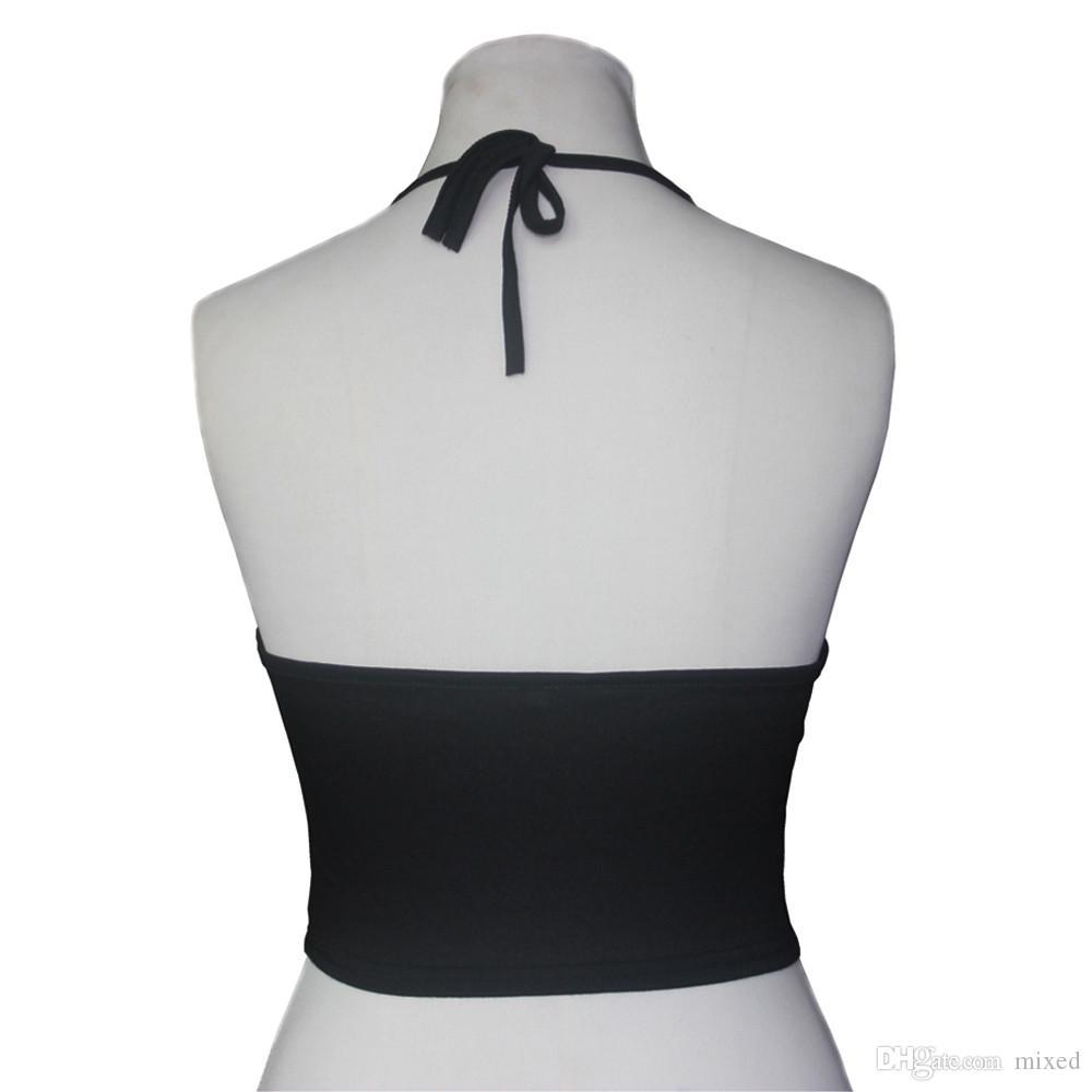 Estate Sexy Womens Mandala stampa Canotte Moda Haltereck senza maniche in cotone Backless Vest Camicetta Top