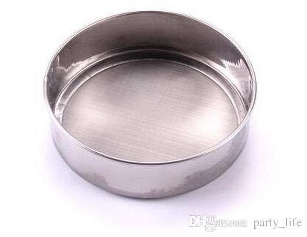 10pcs/lot, Diameter 21cm Stainless steel sieve cup screen mesh powder flour