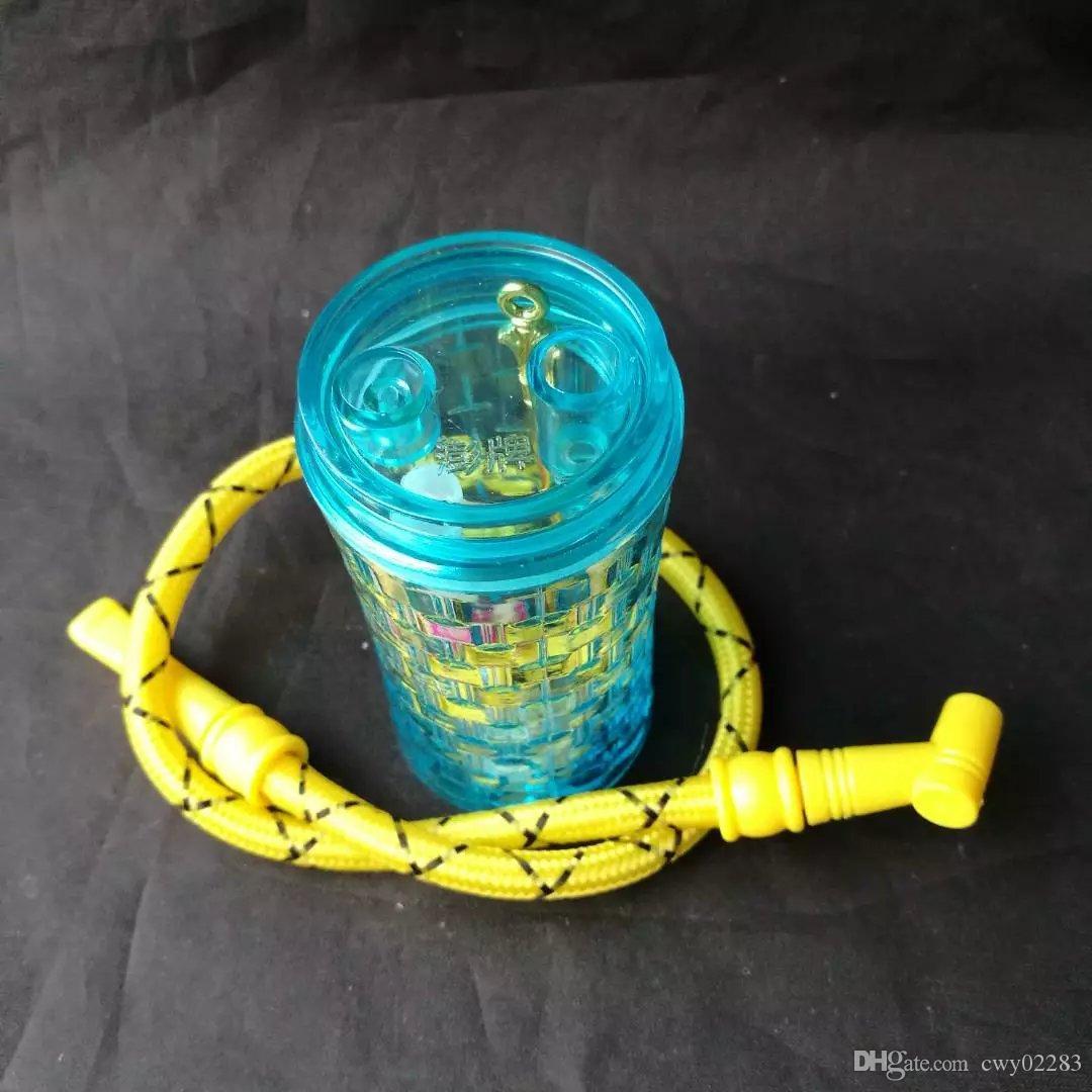 Hookah acrílico azul, atacado Bongos De Vidro Acessórios, Tubulação De Água De Vidro Fumar, Frete Grátis