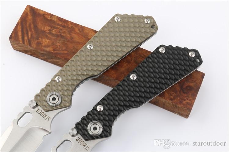 Strider Honeycomb G10 Tactique Couteau Pliant Camping En Plein Air Chasse Survie Couteau de Poche Militaire Utilitaire EDC Outils De Noël Cadeau Collection